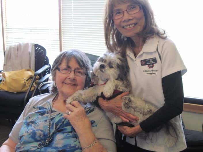 Around Hospice - A Pet Therapy Visit during the Day Program