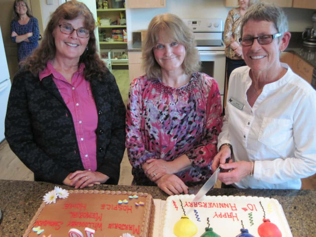 Around Hospice - Staff Celebrating 10 year anniversary of Marjorie Willoughby Snowden Hospice Home