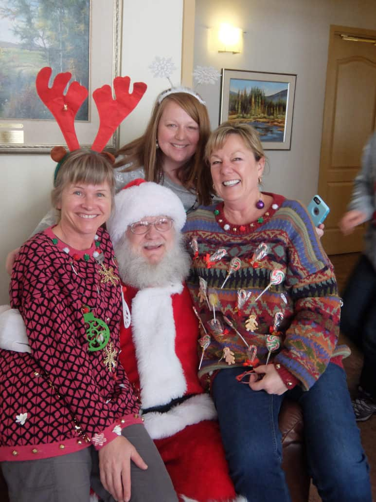Around Hospice - A visit from Santa